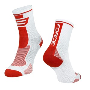 socks FORCE 2  white-black L - XL