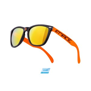 helmet FORCE LARK child  black-fluo S