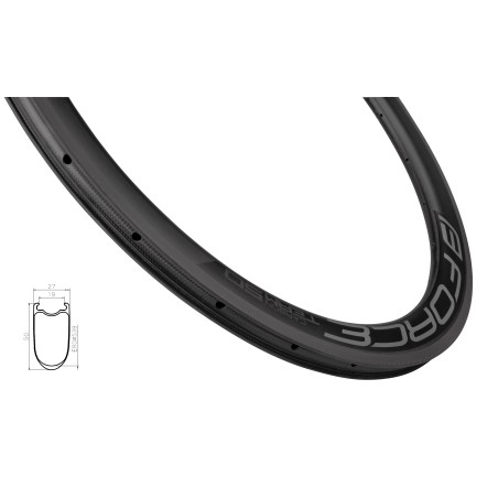 seat clamp FORCE for hex screw 31 8mm Al black OEM