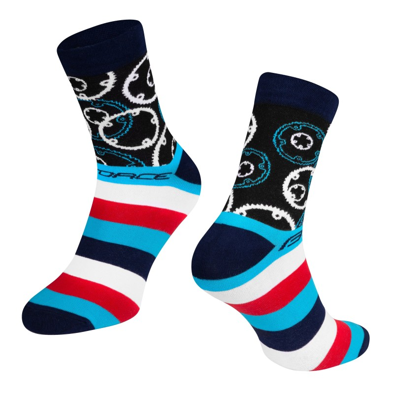 shorts FORCE MTB-11 to waist with pad  fluo M