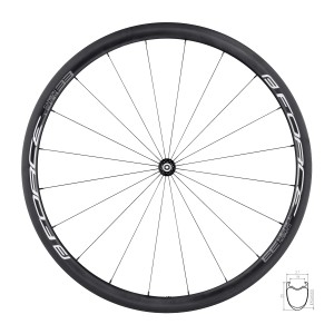 helmet FORCE BAT  black-red matt S - M