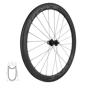 helmet FORCE BAT  shiny black-red L - XL